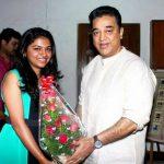 Raveena Ravi, Kaavalthurai ungal nanban Heroine, kamal haasan, gift