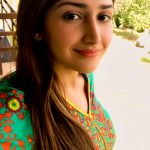 Sayyeshaa, face, selfie, hair style, Suriya 37