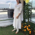 Sayyeshaa, white dress, full size, large size, unseen, instagram