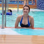 Sherlin Seth, Miss India 2017 Tamil Nadu, swimming pool