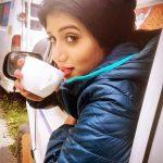 Shilpa Manjunath,  Ispade Rajavum Idhaya Raniyum heroine, coffee, morning
