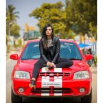 Sruthi Hariharan, Arjun metoo, red car, pose