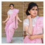 Sruthi Hariharan, Daari Thappisuva Devaru actress, pink dress