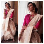 Sruthi Hariharan, Tesla heroine, fancy saree