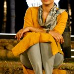 Trisha Krishnan, full size, 96 movie jaanu dress, yellow dress