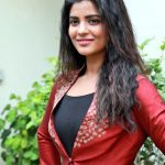 Vada Chennai press Meet, Aishwarya Rajesh, red dress