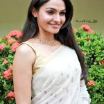 Vada Chennai press Meet, Andrea Jeremiah, smile