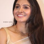 Vada Chennai press Meet,  Andrea Jeremiah, white saree
