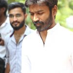 Vada Chennai press Meet, Dhanush, white dress