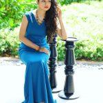 Varsha Bollamma, 96 actress, blue dress, seductive