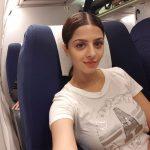 Vedhika, plane, selfie, modernistic