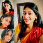 Vijayalakshmi, saree, collage, wallpaper, hd