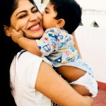 Vijayalakshmi, son, kiss, love