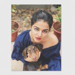 Wamiqa Gabbi, Dil Diyan Gallan Actress, top view, dog