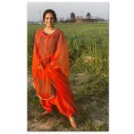 Wamiqa Gabbi, orange dress