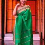 kiki vijay, full size, saree, keerthi saree, devotion mode