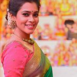 kiki vijay, smile, devotional mode, keerthi shanthanu, saree