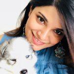 Aathmika, pet lover, puppy