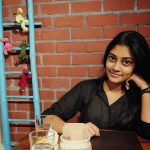 Ammu Abhirami, Raatchasan Child Actress, black dress