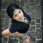 Anaswara Kumar, Photo Shoot, top view, black t shirt