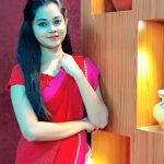 Anitha Sampath, Saree, Sun Network, red saree