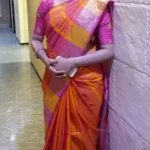 Anitha Sampath, Saree, TV News Anchor, romantic