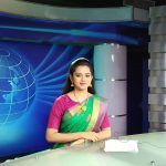 Anitha Sampath, Saree, Television News Anchor, news reading, glamorous