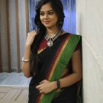 Anitha Sampath, Saree, vanakam tamila vj, black saree
