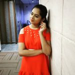 Anitha Sampath, former news anchor, modern dress, orange dress, classy