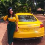 Anjali Rao, yellow car, yellow dress