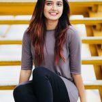 Ashika Ranganath, Garuda Heroine, smile, black pant