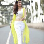 Ashika Ranganath, yellow dress, walking
