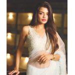 Ashna Zaveri, cute, white saree