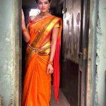 Asmita Sood, orange saree