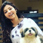 Athulya Ravi, dog, smile