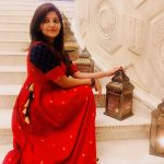 Athulya Ravi, red dress, endearing