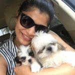 Chinmayi, selfie, dog, pet animal