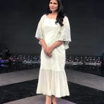 Chinmayi, white dress, large size