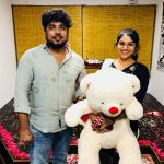 Indhuja, friend, gift, teddy bear