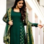 Keerthi Suresh, causal, green dress, tamil actress