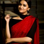 Keerthi Suresh, red saree, saree, traditioanl dress, Sarkar
