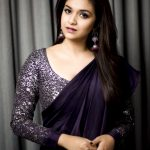 Keerthi Suresh, saree, hd, cute, wallpaper, Sandakozhi 2, Sarkar