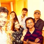 Keerthi Suresh, sarkar, team, thalapathy vijay, success party,