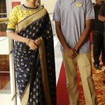 Keerthy Suresh, Keerthi Suresh, Nadigayar Thilagam, saree, fan