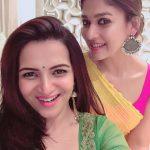 Nayanthara, Divya Dharshini, selfie, cute ladies