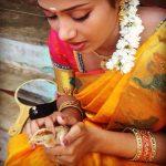 Nivetha Pethuraj, hd, shy, wallpaper, saree