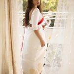 Nivetha Pethuraj, saree, hd, wallpaper, tamil actress