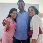 Nivetha Thomas, father, mom, happy face, family