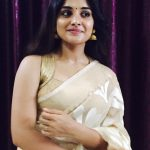 Nivetha Thomas, saree, tamil actres, traditional dress