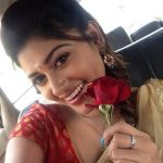 Oviya, 90ml Actress, flower, pavada thavani